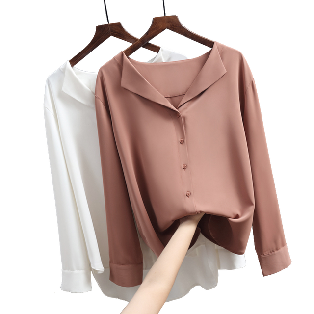 Casual Solid Female Shirts Outwear 2