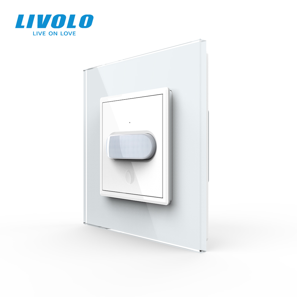 Livolo UK standard  Human Induction sensor touch Switch,tempering Glass Panel,Home Wall Light Switch,Infrared Induction,40s off
