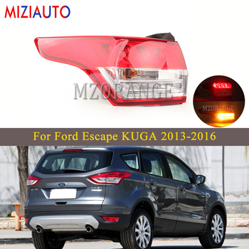 Left/Right Rear Tail light For Ford Escape KUGA 2013-2016 Car Accessories Tail Stop Bumper Lamp turn signal fog light Warning 1pc lh without bulbs front grille fog lamp for ford kuga escape 2013