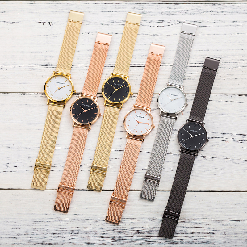 Stylish Quartz Watch Women Mesh Stainless Steel Bracelet Luxury Ladies Wrist Watch For Women