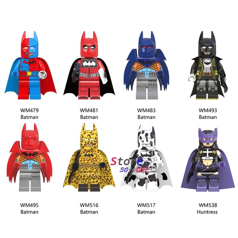 Single Super Hero Batman Tuxedo Cow Huntress Crook Christmas Snowman Freakazoid Building Block Toys For Children