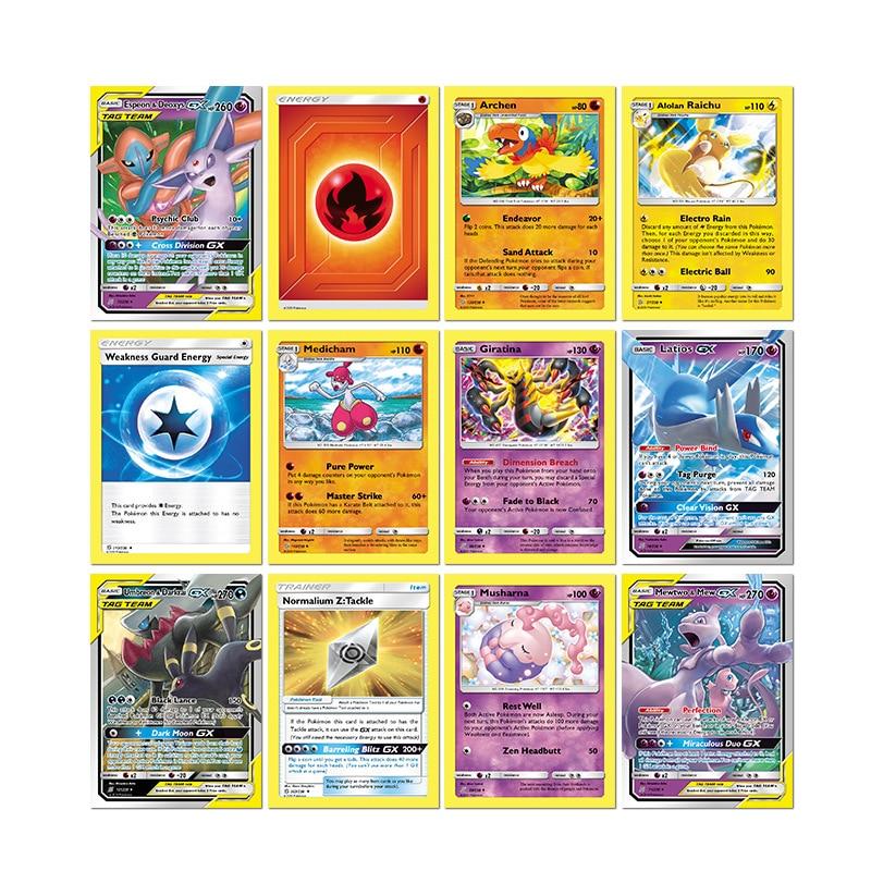 324 개/상자 Pokemon TCG Sun & Moon Unified Minds 부스터 박스, 멀티 콜렉티브 트레이딩 카드 세트 Kids Toys Gift