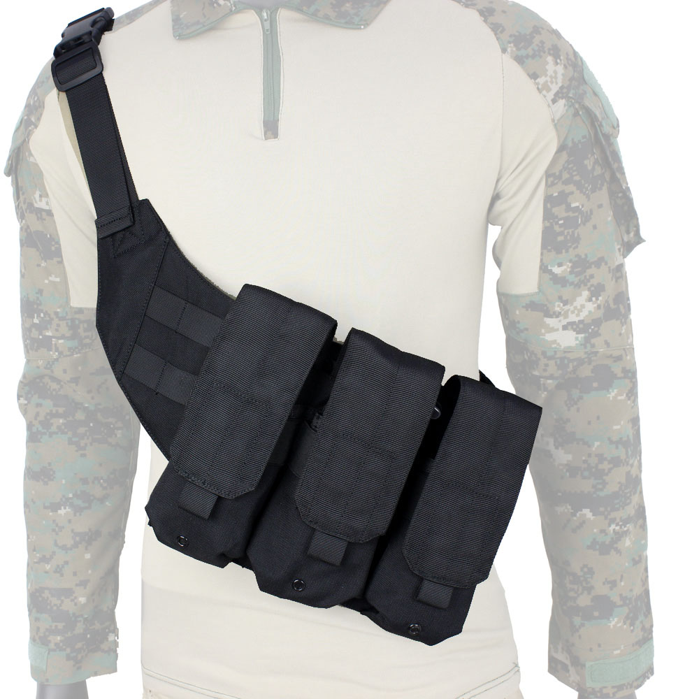 Free Ship¥Tactical Chest Mag Pouch Includes Shoulder Bag + M4/16 Molle Triple Magazine Pouch