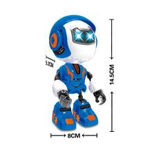 Interactive smart robot touch reaction with voice and light toy robot