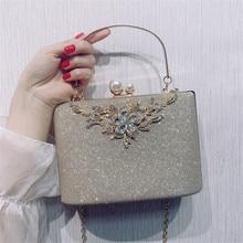 Женская сумка, серебряная вечерняя сумка клатч, роскошные дизайнерские женские сумки, сумка на плечо с кристаллами, винтажный Женский Свадебный Кошелек ZD1422