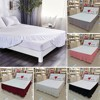 Microfiber Mattress Cover Bedding Bed Dust Ruffle Stretch Bed Skirt Hollow Dust Ruffle Valance Bed Covers