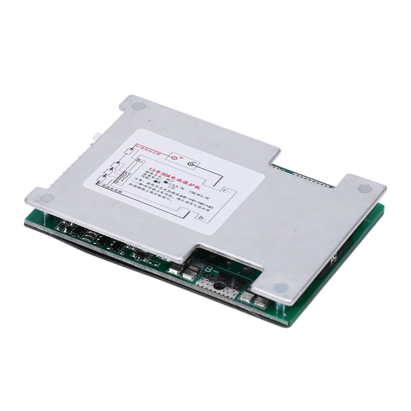 Hot 3C-13S 48V 30A Li-Ion Lipolymer Battery Protection Board BMS PCB Board With Balance Heatsink For E-Bike EScooter