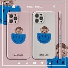 Cute Bear Lens Protective Phone Case for Redmi Note 8 Fundas Soft Side Print Cover for Redmi 4X 4A 5 6 6A 7 8 8A MI10 11 Coque