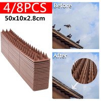 4/8pcs 50x10cm Repellent Deterrent Anti theft Fencing Garden Fence Wall Spikes Cat Anti Bird Thorn Intruder Protection Security Repellents    -