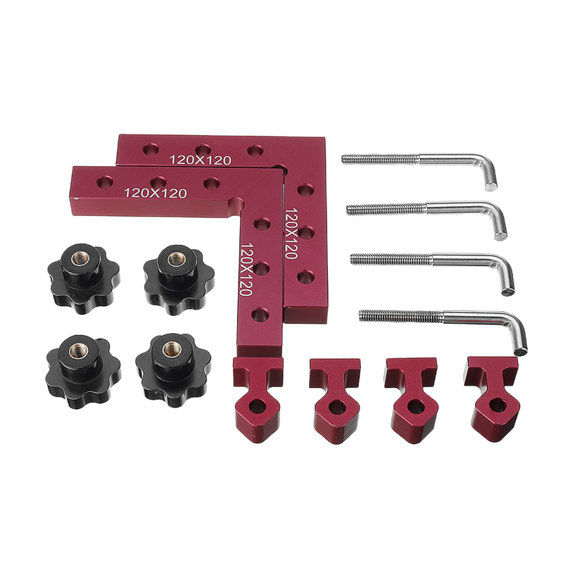 Clamping Positioning 90 120 140 Fixture 6pcs Quality Fixing Tool  Shaped Panel   L Set  160mm Woodworking Clip High Auxiliary