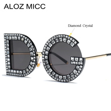ALOZ MICC Sunglasses Women 2019 New Luxury Diamond Ladies Female Fashion Gradient Shades Retro Glasses UV400 Q714
