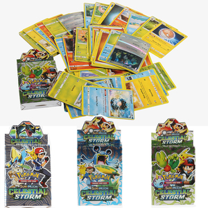 56PCS Random Box New POKEMON Card English Version Pokemon toys Battle Collection Card Box Kids Toy Gift