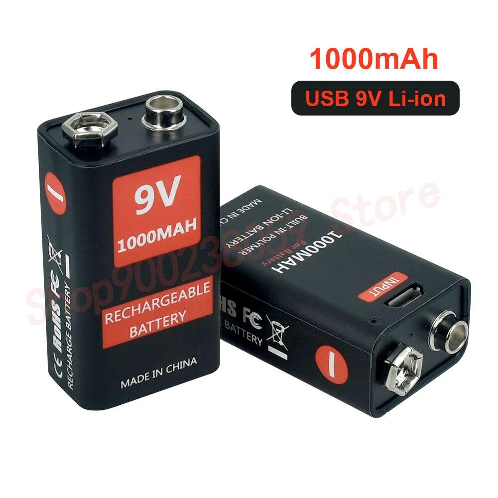 9 в 1000 мАч литий-ионная аккумуляторная батарея Micro USB батареи 9 В литиевая для мультиметра микрофон игрушка дистанционное управление KTV испол...
