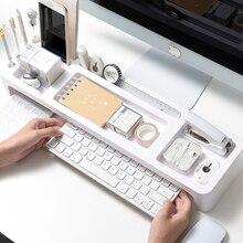Пластиковый офисный стеллаж для хранения, настольный органайзер, настольный канцелярский держатель, настольный органайзер для компьютера/клавиатуры/учебников/планшета/телефона
