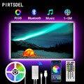 PIRTSDEL LED Strips 5M 2M 3M 4M USB Powered RGB 5050 SMD Flexible Ribbon DC5V TV Backlight with App Control Sync to Music