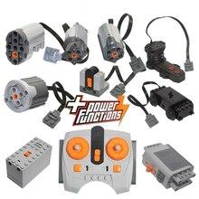 High-tech Parts Motor Multi Power Functions 8293 8883 Tool Servo Train Motor PF Model Sets Building Blocks Compatible All Brands