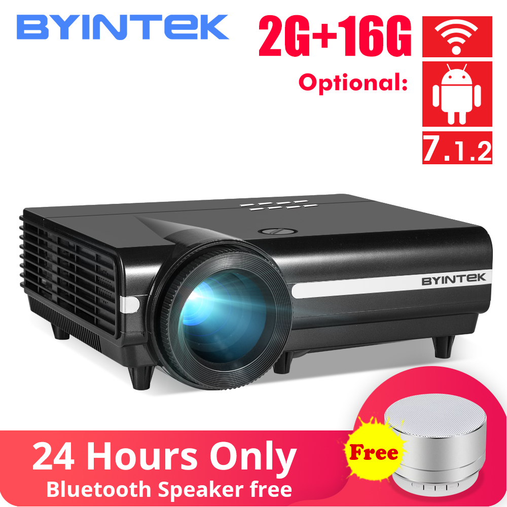 BYINTEK LUA BT96Plus Android Wifi Inteligente de Vídeo 1080P LEVOU Projetor Para Full HD Home Theater Suporte 4K Online vídeo