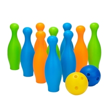 2021 New Small Plastic Bowling Pin Bowling Ball Set Fun Indoor Family Games Educational