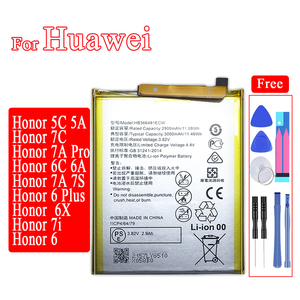 Image 1 - HB366481ECW Mobile Phone Battery for Huawei Honor 5C 7C 7A Pro 6C 6A 7A 7S 6 7i 6X 7 6 Plus PE TL20 UL00 TL10 CL00 Battery