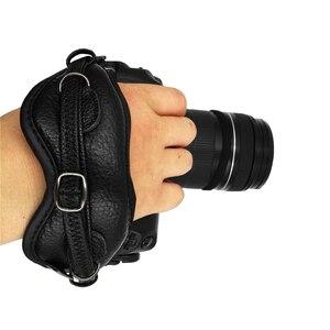 Image 5 - العالمي DSLR كاميرا جلدية اليد قبضة شريط للرسغ لوحة يناسب لكانون 1000D 550D 600D نيكون سوني فوجي فيلم كاميرا