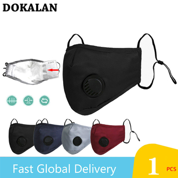 2020 Five-layer Mouth Mask Breath Valve Маска Mascherine Filtration PM2.5 Face Masks Masque Dust Mascaras Respirator Maska