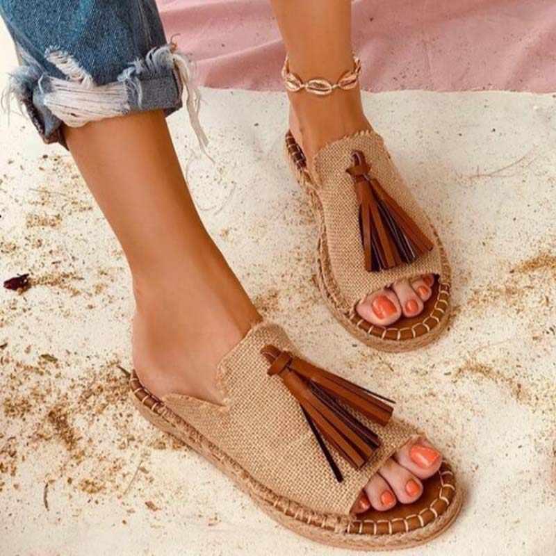Xăng Đan Nữ Đẹp La Mã Tua Rua Da Báo Mùa Hè Cho Nữ Thoải Mái Đấu Sĩ Đế Bằng Nữ Trượt Giày
