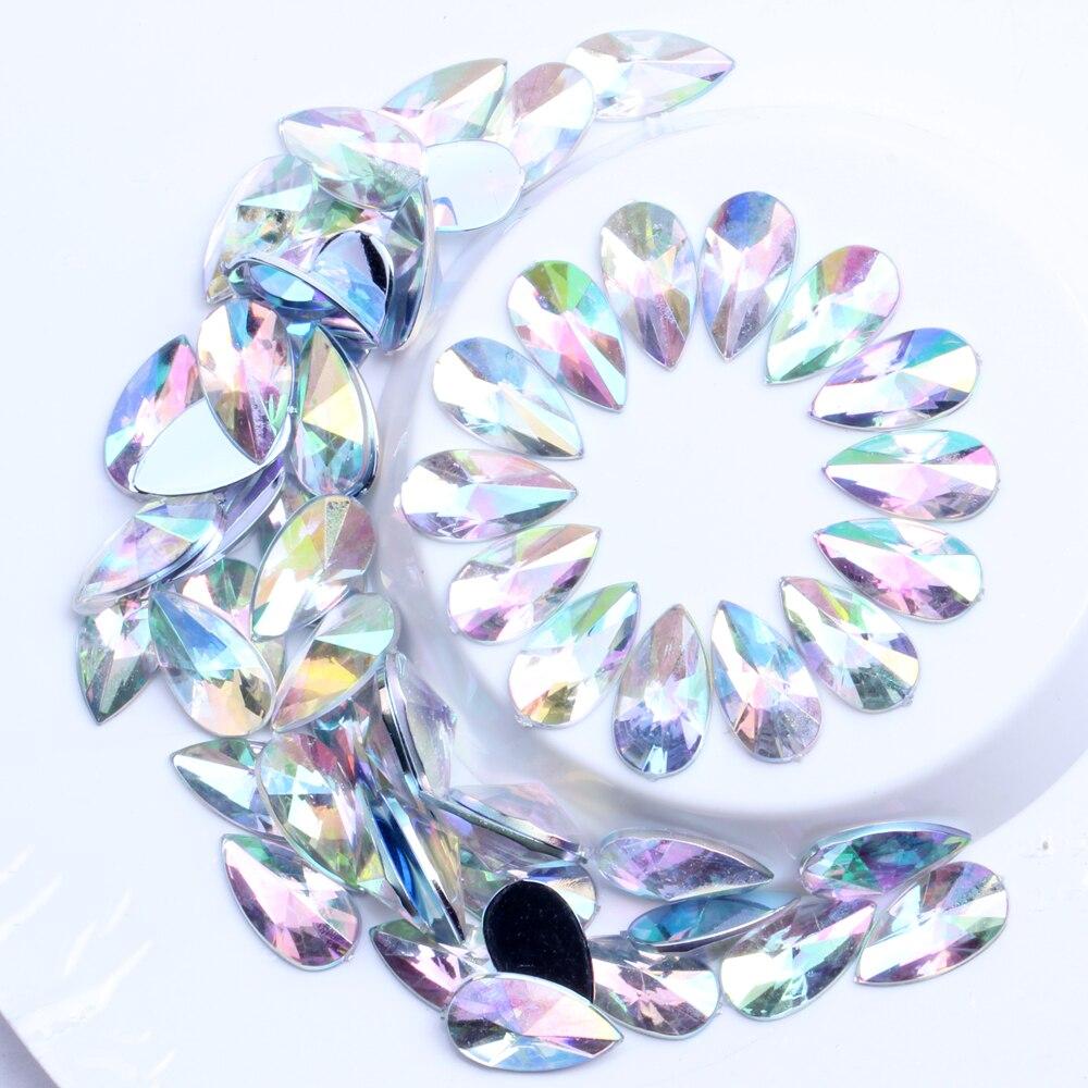 500 Stick-On Aquamarine /& Pearl Colored Crafting Crystals Rhinestone Diamante