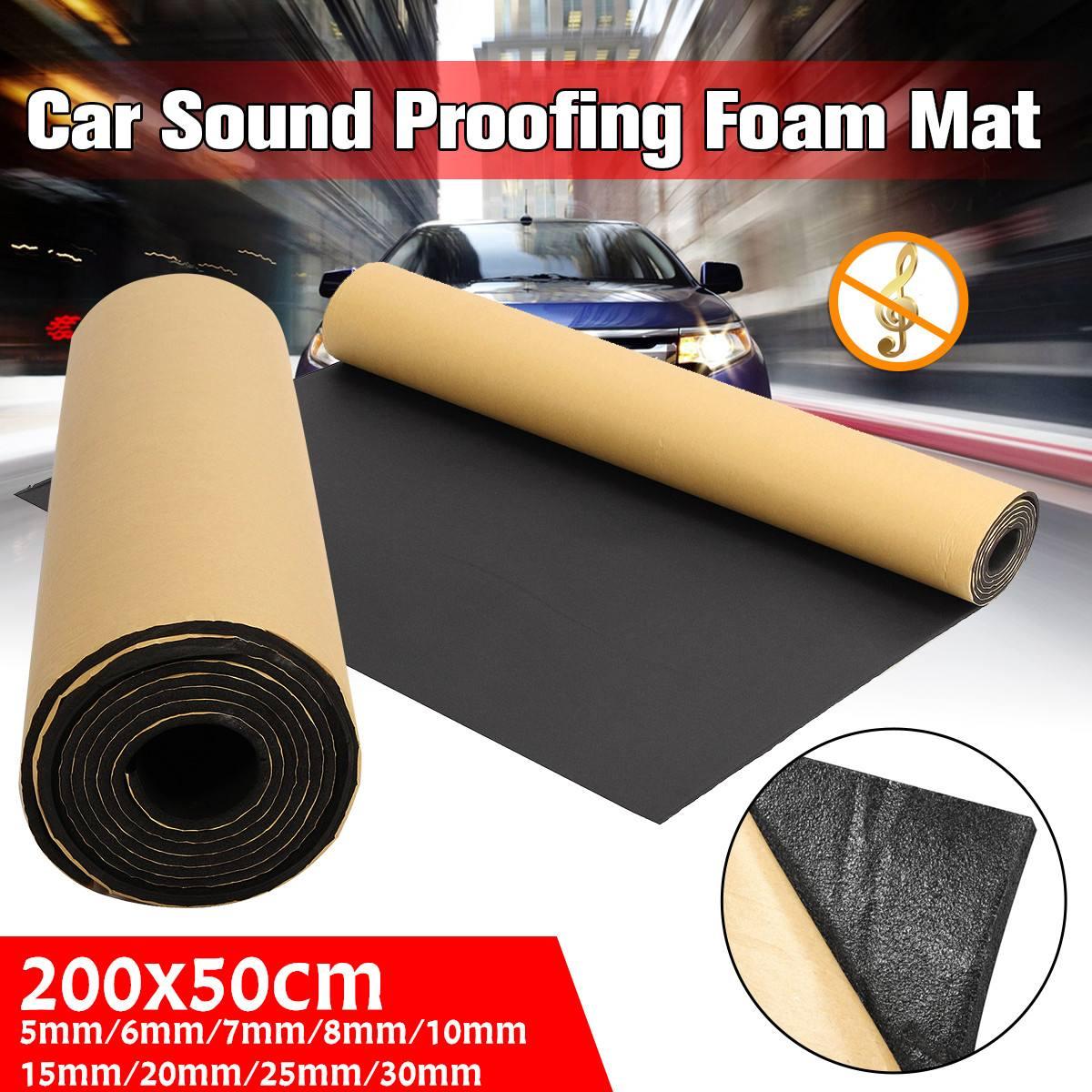 200cmx50cm 5mm-30mm Car Sound Proofing Deadening Car Truck Anti-noise Sound Insulation Cotton Heat Closed Cell Foam