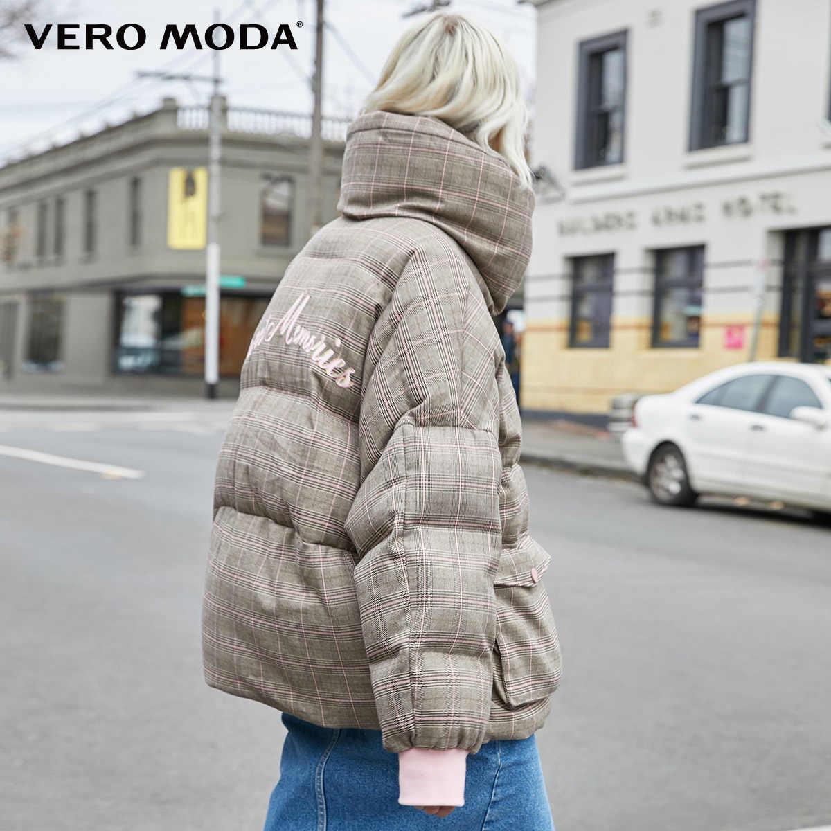 Vero Moda Nieuwe Dubbele Kragen Plaid Donsjack | 319423507