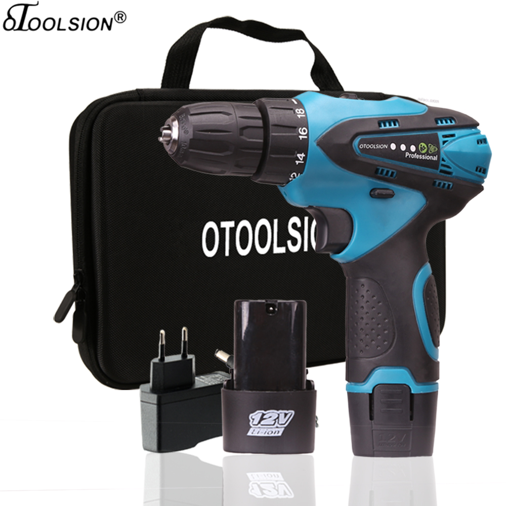 12V Electric Tools 1 5 Ah Lithium-Ion Battery Screwdriver 18 1 Torque Cordless Drill Electric Drill For Drilling in Ceramic Wood