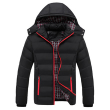 Warm Black Overcoat Hooded Thick Snow-outwear Duck Down For Men Winter