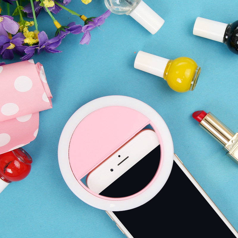 Pink 36LED Selfie Night Light With 3 levels Lighting Night For Cell Phone Photo Lights 3