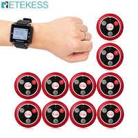 Retekess 433 МГц Беспроводная система вызова официанта пейджер часы приемник T128 + 10 шт. кнопка вызова T117 ресторанное оборудование