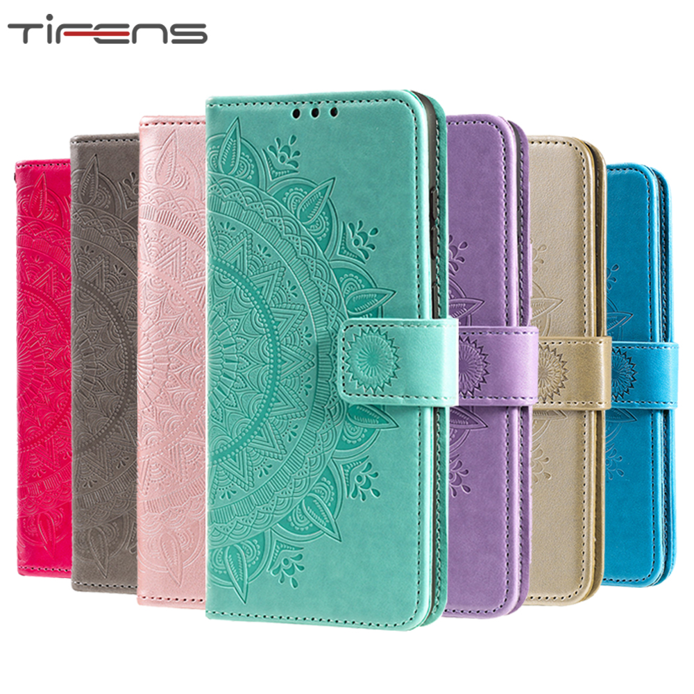 Mandala Flower Leather 5 5s SE 2020 <font><b>Case</b></font> For <font><b>iPhone</b></font> 11 Pro <font><b>XS</b></font> Max XR <font><b>X</b></font> 6 6s 7 8 Plus 5C Flip Wallet Card Holder Phone Bag Cover image