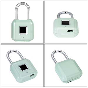 Image 4 - Towode zamek do drzwi z czytnikiem linii papilarnych torba na bagaż bezkluczowy zamek do drzwi USB akumulator zabezpieczenie przed kradzieżą kłódka na odcisk palca