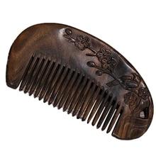 цена на Natural Health Care Brown Sandalwood Hair Comb Anti-Static Beard Wooden Comb of Hair Brush Bird Hair Massage Comb