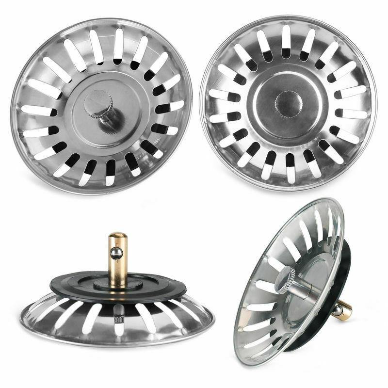 Stainless Steel Waste Plug Sink Filter Hair Catcher Drains Kitchen Sink Strainer Stopper Bathroom Tools Kitchen Accessories PTCS