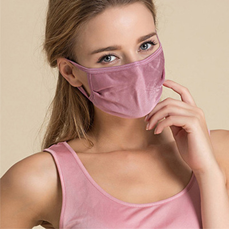 Man Woman Multicolor 5pieces/8pieces Summer Mulberry Silk Mask Breathable Sunscreen Mask Double Layer Silk Protection Thin MaskWomens Masks   -