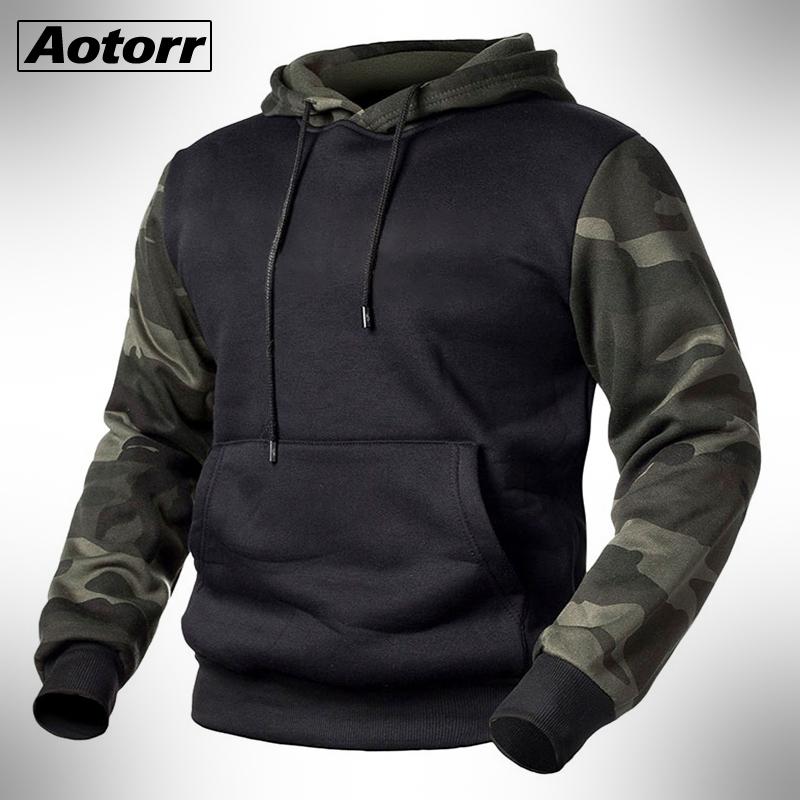 Army Green Men Military Camouflage Hoodies Autumn Winter Hooded Sweatshirts Male Camo Hoody Hip Hop Streetwear Brand Top 4XL
