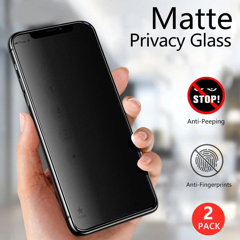 Матовая антишпионская защитная пленка HD для Iphone 12 11 Pro Max Mini X XR XS, керамическая Защитная пленка для конфиденциальности на 6, 7, 8 Plus, без стекла
