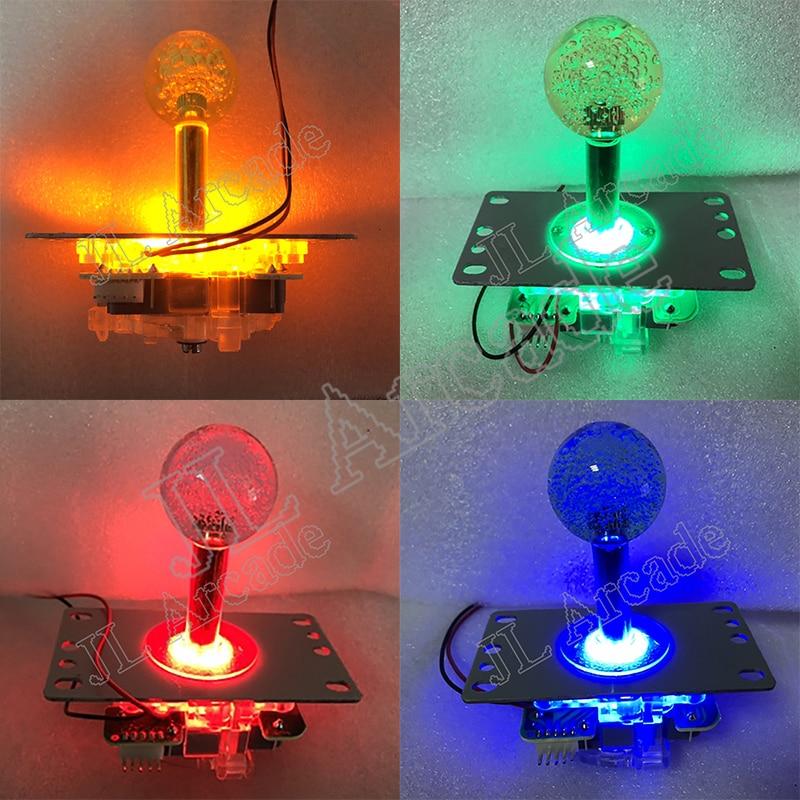Jamma Arcade Joystick 12V Illuminated LED Joystick Copy SANWA 5pin Type Stick Fighting Rocker