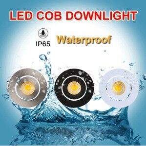 Image 2 - IP65 מיני שקוע LED עמיד למים Dimmable COB Downlight חיצוני 3W AC90 260V/DC12V LED תקרת ספוט אור LED תקרה אורות