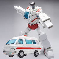 2019 Hot Weijiang MPP30 Masterpiece White Ambulance Transformation Alloy Car Toys For Children Boy Action Figure Model Xmas Gift