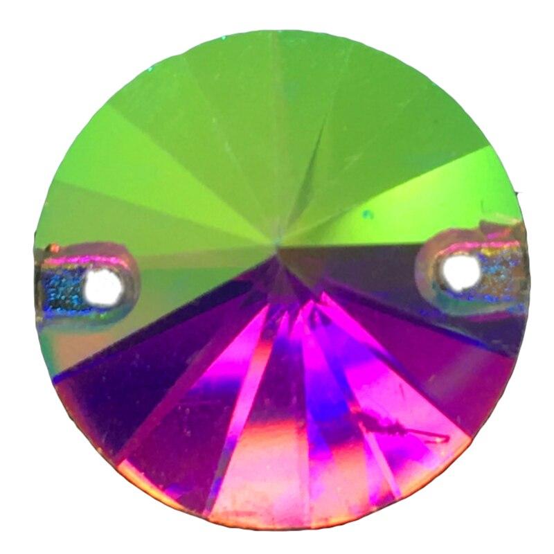12 MM 18 MM Opale Couleur Rond A Coudre sur Costume Robe verre cristal strass perles