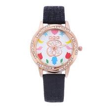 купить kobiet zegarka New luxury brand Bear women watches Rose gold Casual quartz watch Crystal Leather Strap wristwatch reloj mujer дешево