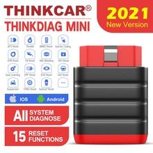 Thinkcar Thinkdiag Mini OBD2 الماسح الضوئي بلوتوث المهنية OBD 2 السيارات الماسح الضوئي 15 إعادة تعيين خدمة Easydiag أداة تشخيصية