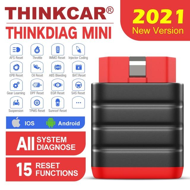 Thinkcar Thinkdiag Mini OBD2 Scanner Bluetooth professionale OBD 2 Scanner automobilistico 15 Reset servizio strumento diagnostico Easydiag