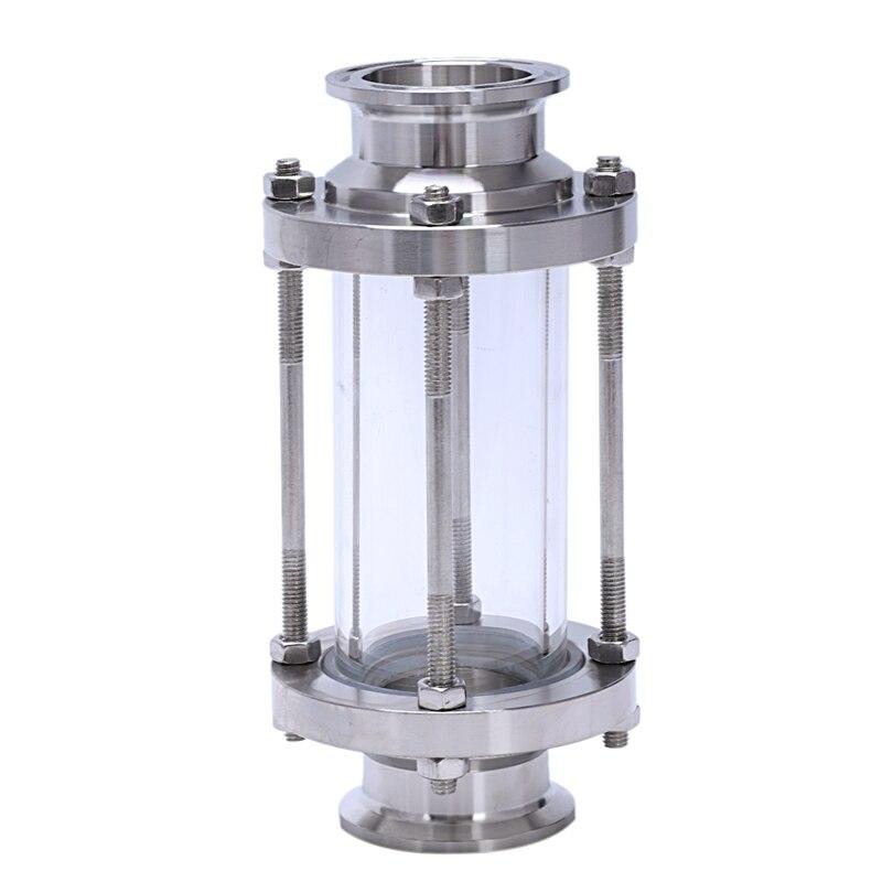 Wziernik liniowy z końcówką zaciskową, przepływowy wziernik sanitarny prosty SUS316 1.5 Cal spożywcze tri-clamp (rura przepływowa OD 38 MM)