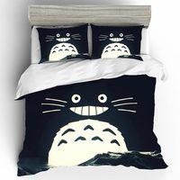 طقم سرير s لطيف توتورو أغطية سرير مجموعة حاف الغطاء واحد الملكة الملك الحجم المنسوجات المنزلية أنيمي طقم سرير Roupa دي كاما غطاء سرير