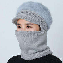 High Quality Winter Wool Mother Cap Fur Wool Knitted Hat Beanies Knitted Hat One-Piece Sock ladies Warm Cold Riding Ski Gorras цена